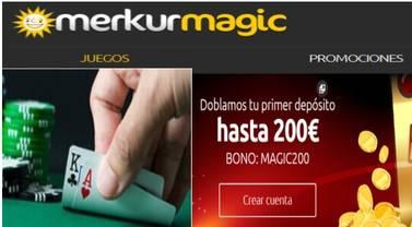 Merkurmagic otorga 200 euros por duplicación del primer ingreso